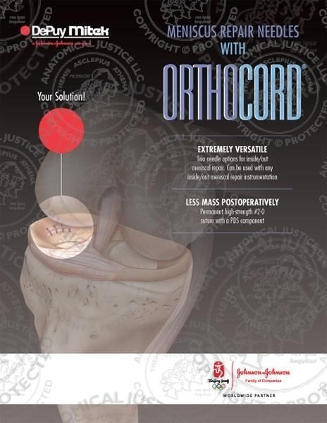 Meniscus Repair Needles with Orthocord Brochure
